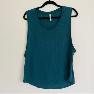 Fabletics tank medallion workout casual teal